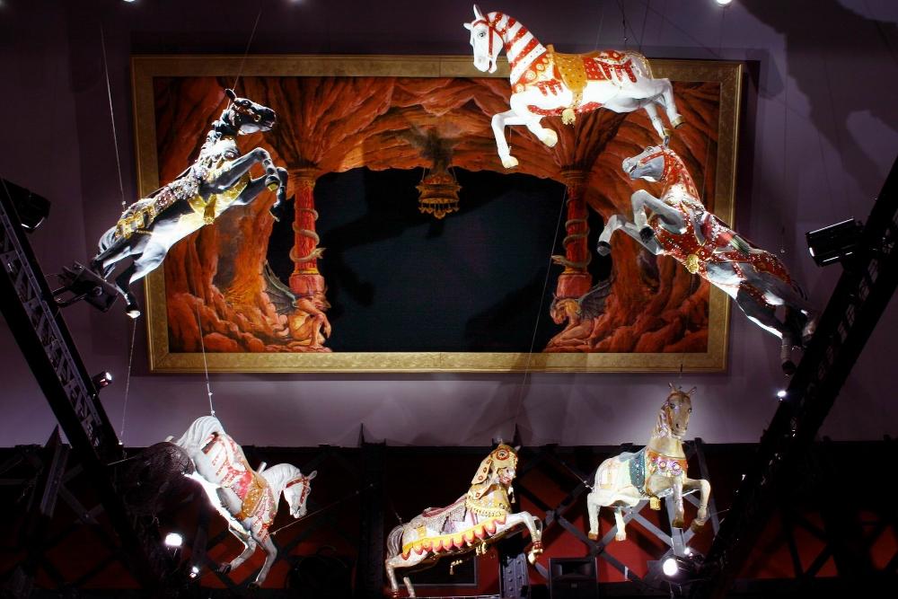 Parade de chevaux, Salons vénitiens