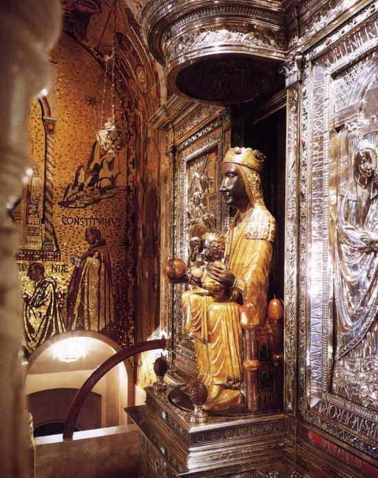 La vierge Moreneta, au Montserrat