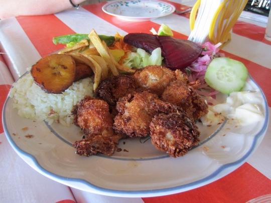Beignets de crevettes à la coco, au Mexique