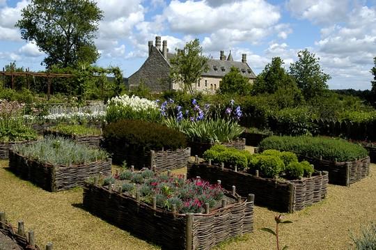 Vue du château depuis les jardinets médiévaux (Hervé Guillaume)