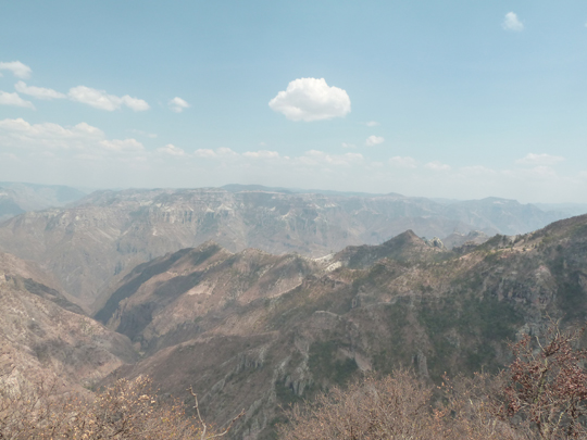 Vue sur les 3 canyons de la Barranca, depuis el Divisadero