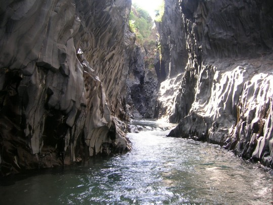 canyoning gorges alcantra