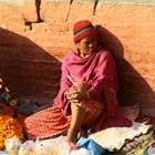 Vendeuse de fleur à Katmandou