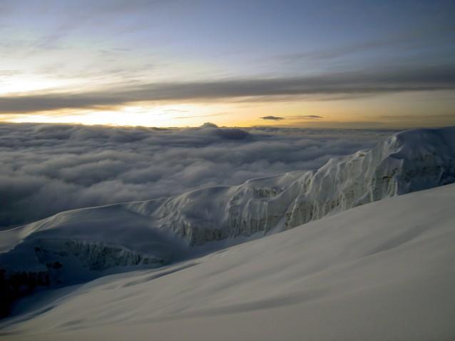 """Vue sur un des glaciers du """"Kili"""""""