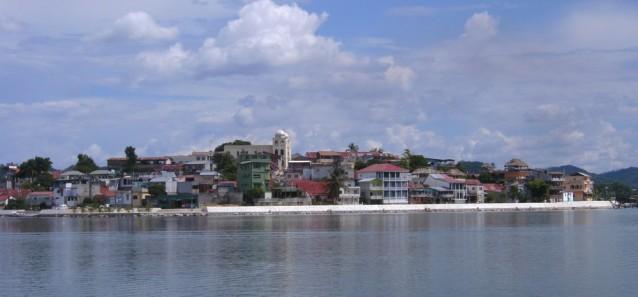 Une vue de l'île de Flores (évidemment, pas depuis El Remate, situé à 30 km de là)