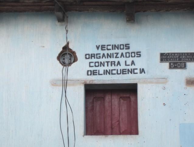 """""""Voisins organisés contre la délinquance"""", San Andrés Xecul (Guatémala)"""