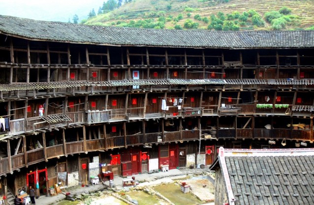 Vue intérieure du <i>tulou</i> de Yuchang