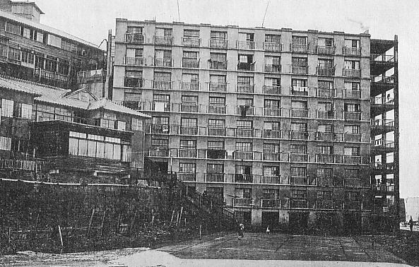 Un bâtiment d'appartements de Hashima vers 1930