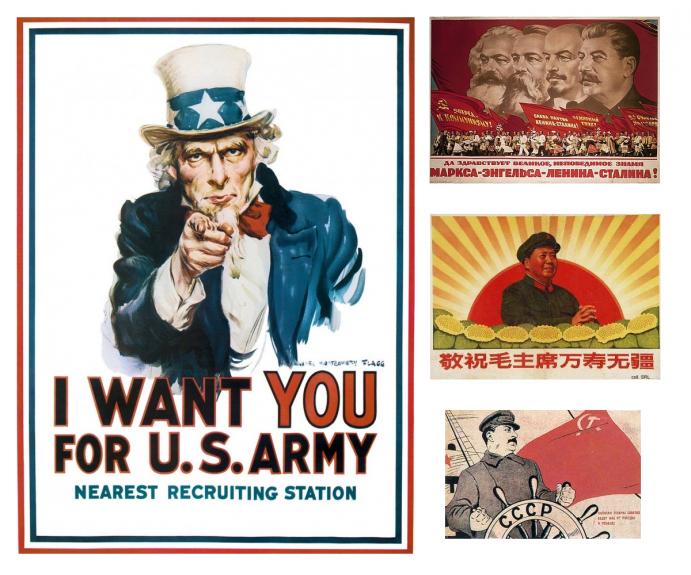 Propagande américaine et soviétique