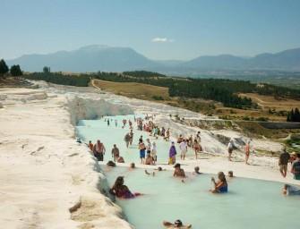 Pamukkale: des piscines naturelles cotonneuses sous le cagnard  turc