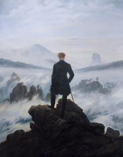 Le Voyageur contemplant une mer de nuages, Caspar David Friedrich