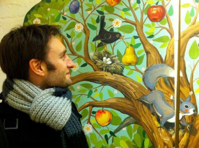 Vincent Liegey, au Noha Studio de Budapest.