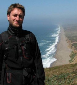Vincent Liegey, au Point Reyes National Seashore (Californie)