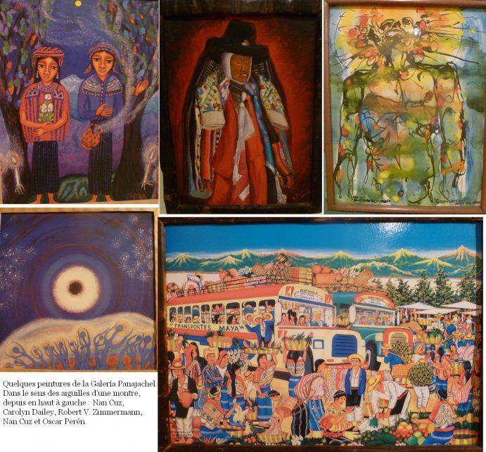 Lac Atitlan : sélection d'oeuvres de la Galeria Panajachel
