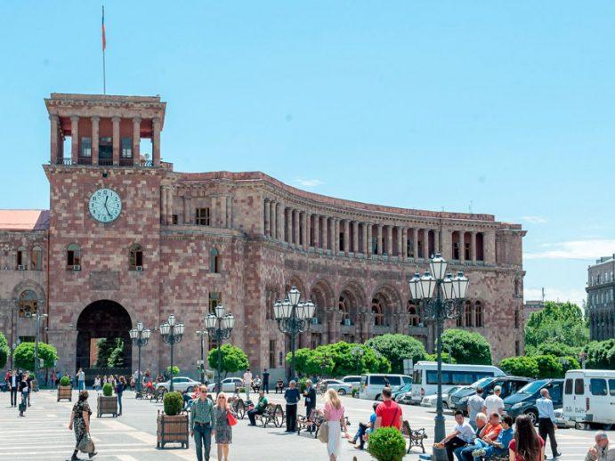 Vue d'Erevan, capitale de l'Arménie.