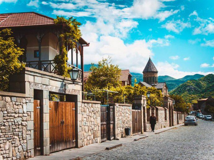 Mtskheta, ville au Patrimoine mondial de l'Unesco.