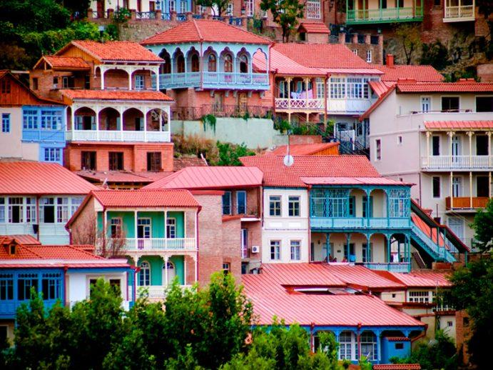 Vue de Tbilissi.