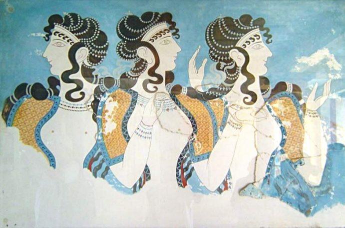 Art minoen : fresque de Cnossos.