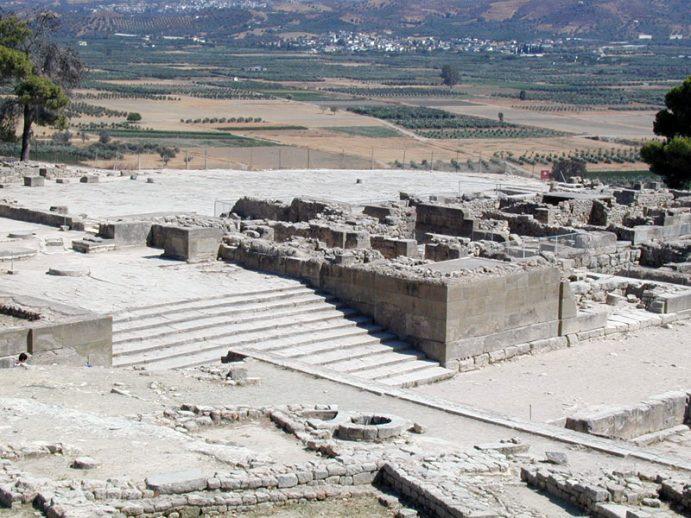 Architecture minoenne : Phaistos, 01.