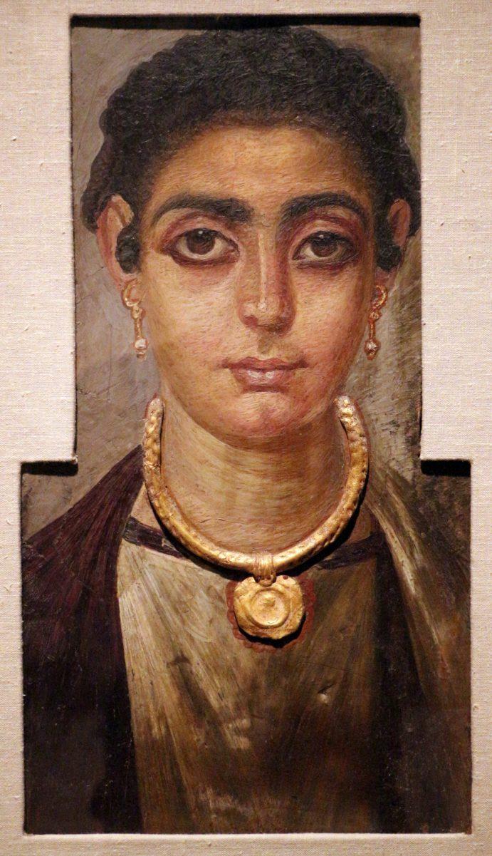 Portrait de femme, vers 130 à 160, Institut des Arts de Detroit (États-Unis).