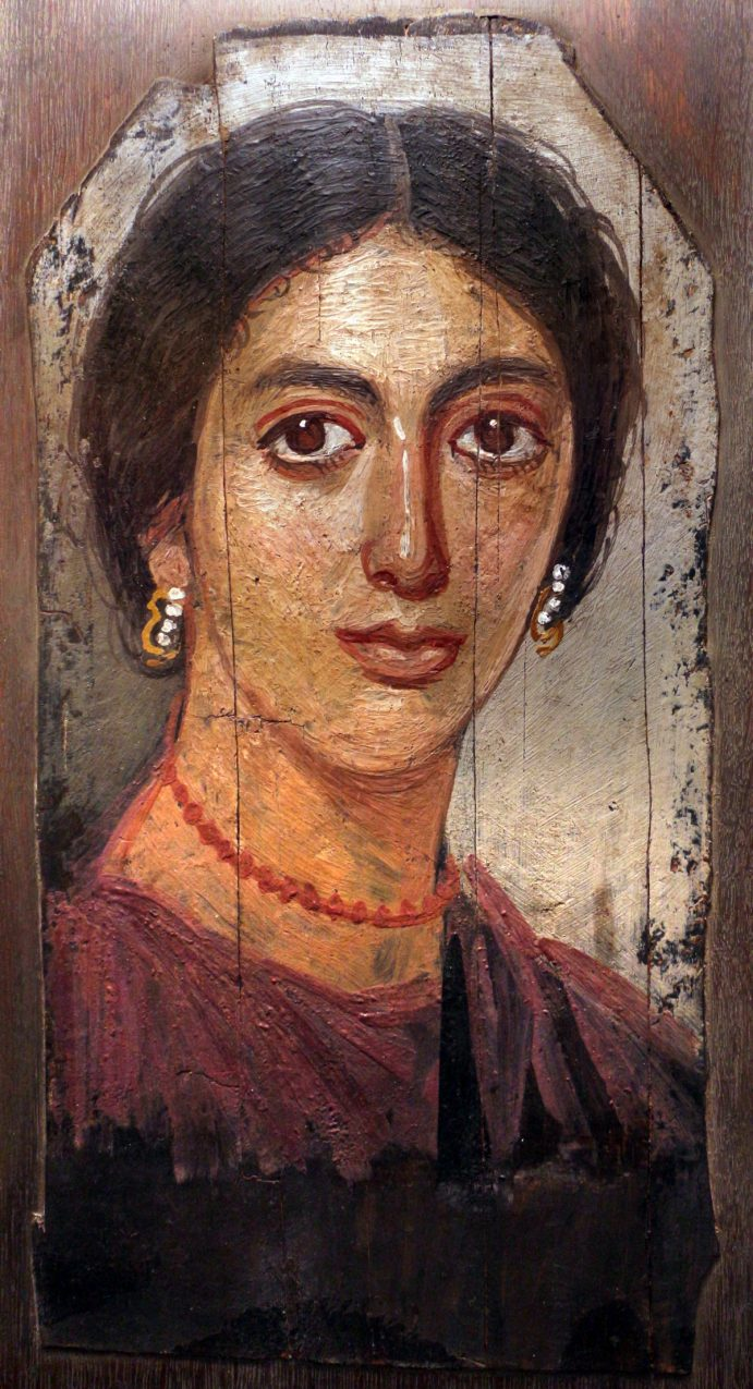 Portrait d'une femme, vers 100 à 150, Musée de Mikwaukee (États-Unis).