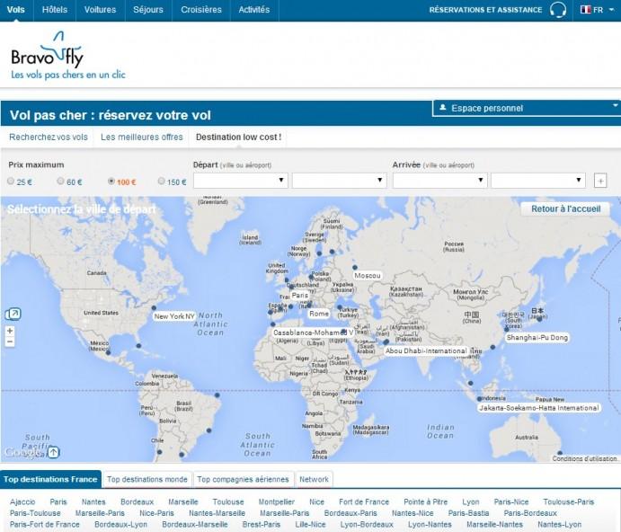 Bravofly un triple moteur de recherche de vols pas chers for Moteur de recherche hotel moins cher